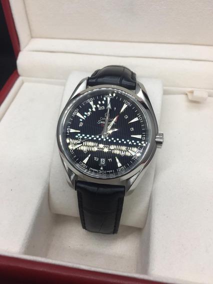 Relógio Ômega Seamaster Gmt Original 43mm Aço