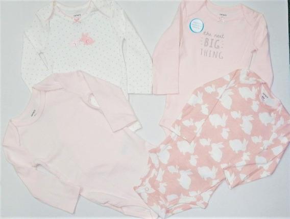 Set 4 Pañaleros Carters Bebe Niño Niña 0-24 Meses R