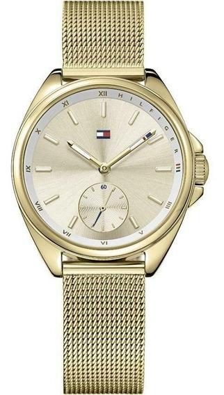 Relógio Tommy Hilfiger Feminino Damenur Aço Dourado -1781757