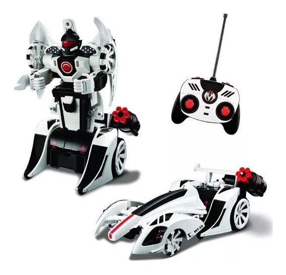 Robot Rc Radio Control Transformer Dispara Repeticion