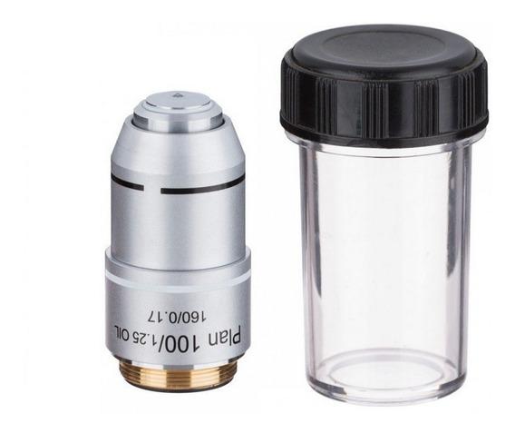 Objetiva Planacromática 100x Microscópio Biológico 20mm
