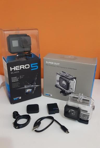 Gopro Hero 5 Black + Bateria Extra + Caixa De Estanque