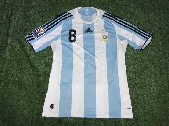 Camiseta De La Selección Argentina 2008 Jugador 8 Utileria