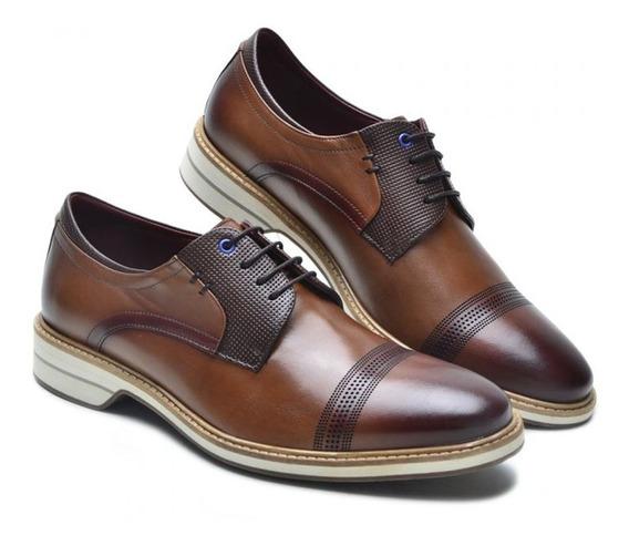 Sapato Masculino Estilo Esporte Fino Keep Shoes Cor Tabaco