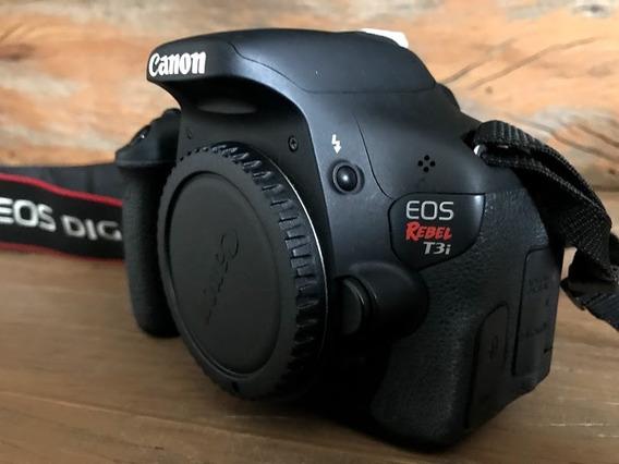Câmera Fotográfica - Canos Eos Rebel T3i + Lentes
