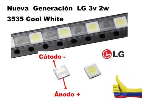 10 Unid. Diodos Led Retroiluminación 3535 3v LG  Cool White