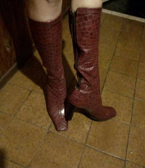 Botas Zara Elastizadas Caña Alta De Dama