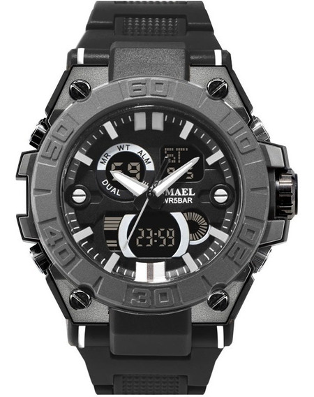 Relógio Masculino Smael Esportivo Militar À Prova D