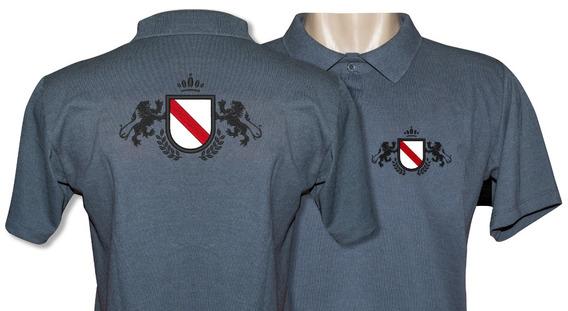 4 Camisas Polo Bordado Personalizada Frente E Costa Seu Logo