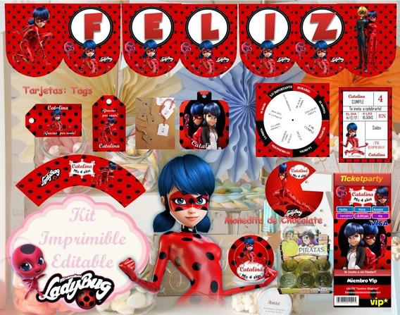 Invitaciones Ladybug Recuerdos Cotillón Y Fiestas En