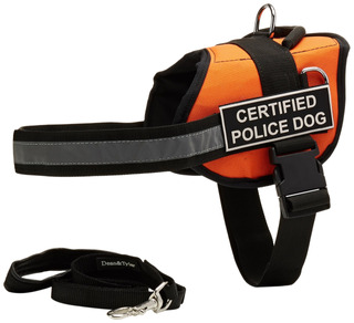 Dean & Tyler Dt Works Orange Certified Police Dog Harness Wi