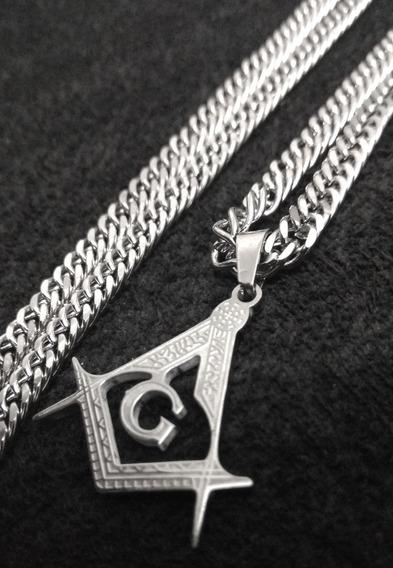 Corrente/cordão Groumett C/ Pingente Maçonaria Maçônico