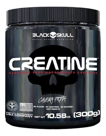 Creatina 100% Pure - 300g - Black Skull - Caveira Preta