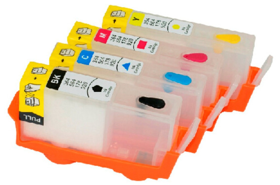 Cartucho Recarregável Para Hp6830 6230 934 935 + Chip Full