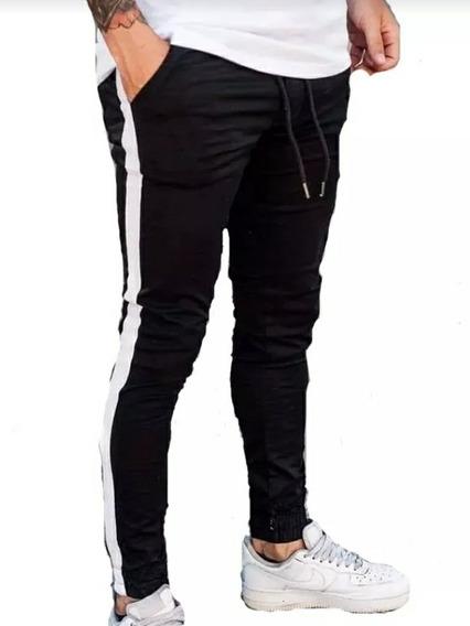 Pantalones Joggers De Gabardina Hombre