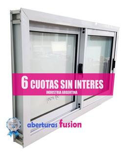 Ventana Para Cocina Aluminio Blanco 150x60 Vidrio 4mm