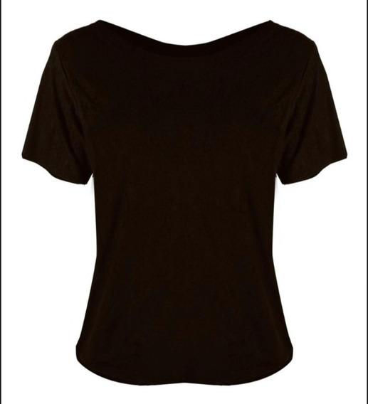 Blusa Tshirt Feminina Suedi Chamoa Sem Costura Tamanhos