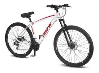 Bicicleta Aro 29 Rbw Dust 21 Marchas Freio A Disco Branco