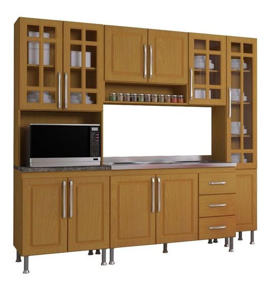 Cozinha Completa Indekes Jade 11 Portas 3 Gavetas 4 Peças
