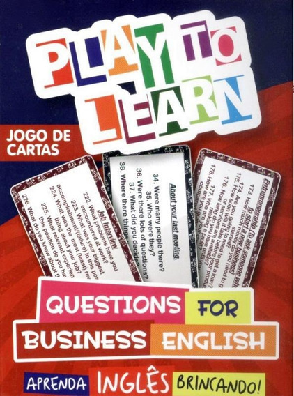 Play To Learn - Jogo De Cartas - Questions For Business En