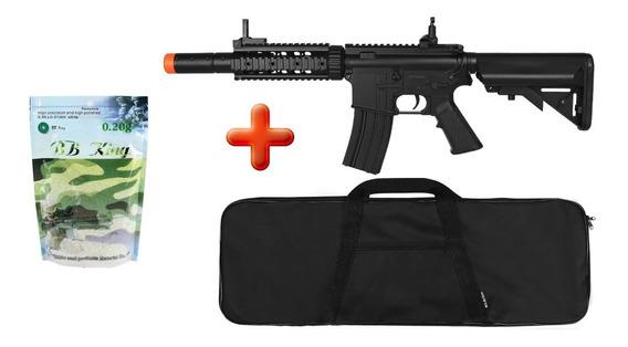 Rifle Airsoft Elétrico Cyma M4a1 Bivolt+ Capa + 5000 Bbs