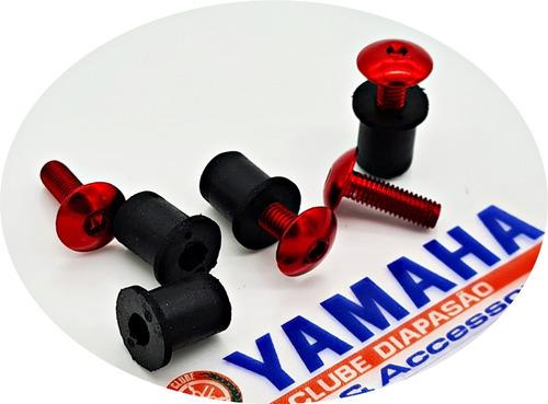 Parafuso Bolha Xt660 Ténéré250 Alumínio Vermelho Xt 660