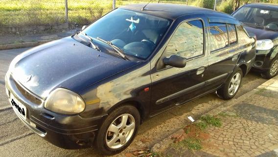 Renault/clio Sedan Rn 1.0 16v Preto - 2001