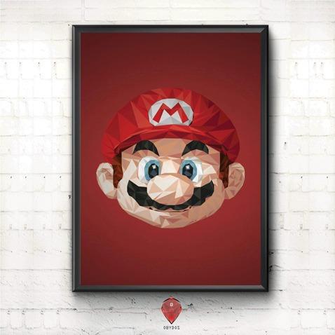 Mario Geometrico - Quadro Para Quarto/sala