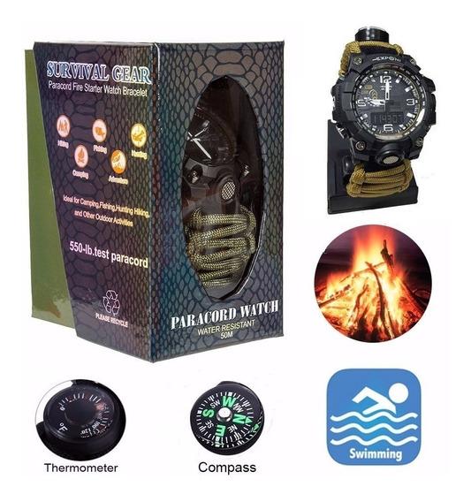 Relógio Tático /yuzex Survival Tan 6 Em 1 /militar/camping