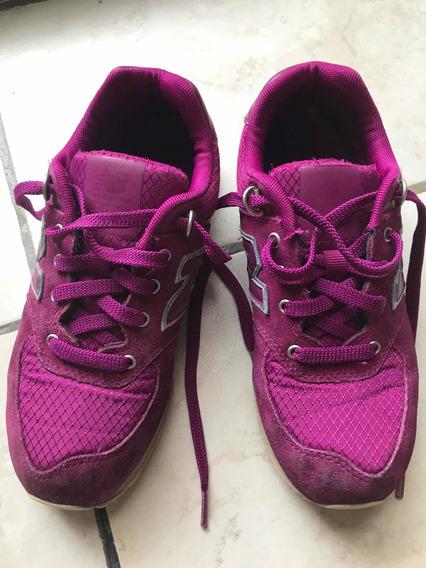 Zapatillas Niña New Balance Fucsias Rosas Us 2.5 Usadas