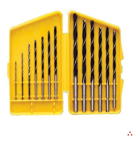 Imagem 1 de 4 de Jogo De Brocas Em Aço Carbono Madeira Com 13 Peças 1.5 A 6.5