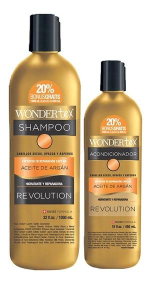 Shampoo Y Acondicionador Wonder Tex Revolution Aceite Argan