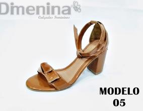 5e6faa0b9 Sandalias Femininas Salto 5 A 7 Centimetros - Sapatos com o Melhores ...