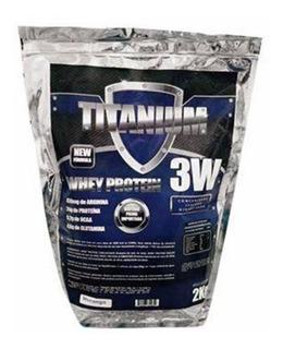 Whey Protein 3w 2 Kilos Titanium Labs Morango