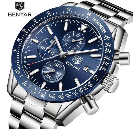 Relógio Masculino Benyar Original Pronta Entrega Modelo 5140