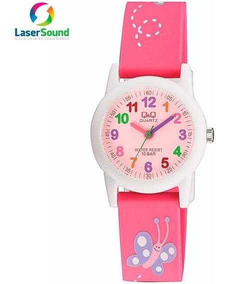 Relógio Q&q By Japan Infantil Analógico Rosa Original + Nf