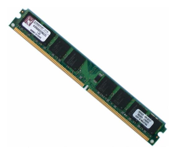Memória 2gb Kingston 667 Desktop Pc Ddr2 Kvr667d2n5/2g