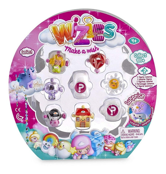 Wizies Pack 7 Figures + 1 Especial