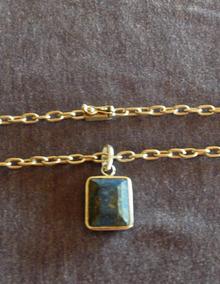 Corrente Cadeado - Pingente Em Lápis Lazuli - Prata 950 K