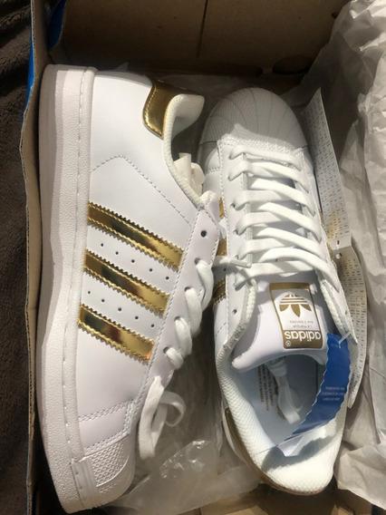 Zapatillas adidas Originals Superstar Blanco/dorado/cuero