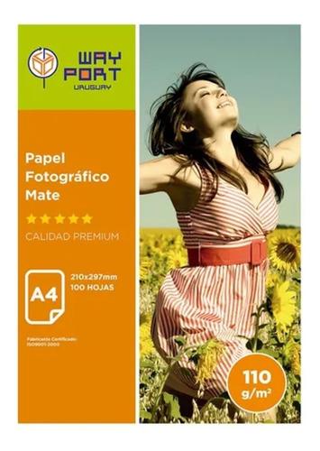Papel Foto Presentacion Mate Coteado 100 Hojas A4 110grs