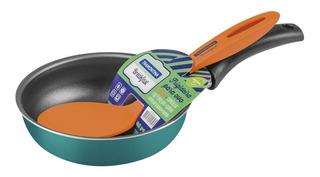 Sartén Para Huevos Breakfast 13cm Y Espátula Tramontina