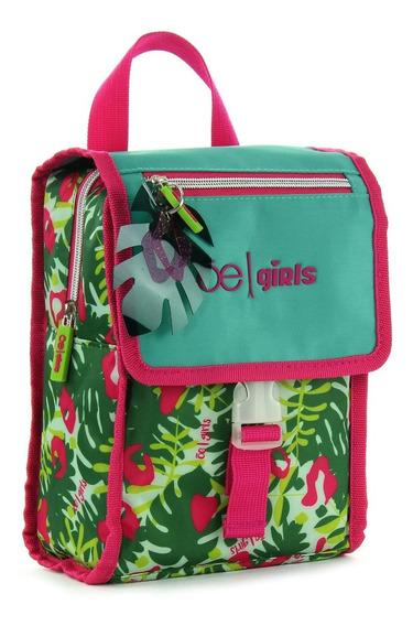 Lonchera Textil Con Print Y Estructura Semi-soft Cloe Girls