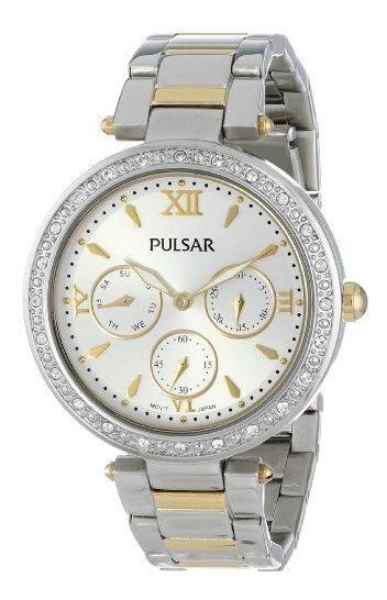 Pulsar Pp6109 Reloj De Cuarzo Japonés Dorado Para Mujer Con