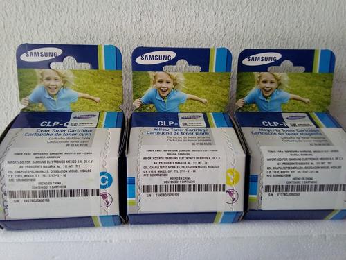 Imagen 1 de 1 de Toner Samsung Clp300 Kit  Tres Colores Cyan, Mag Y Amarillo