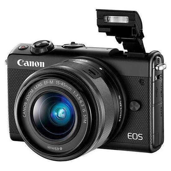 Câmera Digital Canon Eos M100 24.2mp+ Lente Ef-m15-45 Is Stm
