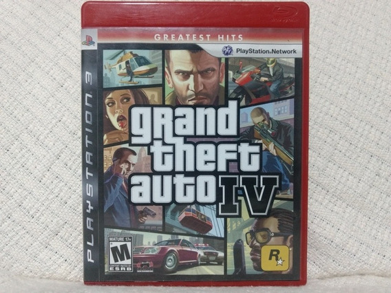 Jogo Ps3 Gta Grand Theft Auto 4 Mídia Física Original