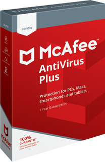 Antivirus Mcafee Antivirus Plus 2019 5 Pc 1 Año