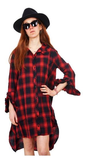 Customs Ba Camisolas Mujer Importada Largas Vestidos Leñador