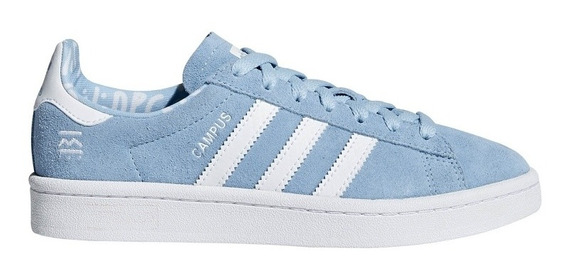 Zapatillas adidas Campus Niño Celeste Talle 37.5 - Uk5.5